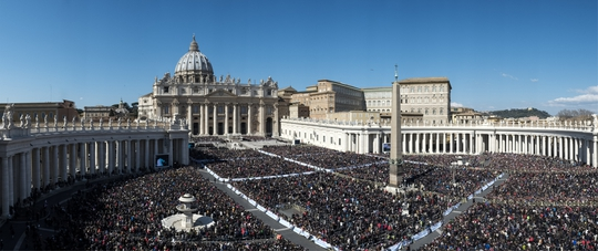St. Peter's Square, March 7, 2015. Audience of the Movement with Pope Francis.