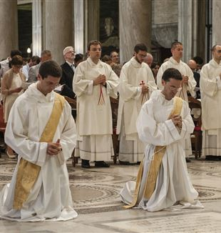 New priests of the Fraternity of St. Charles Borromeo.