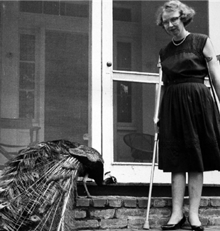Flannery O'Connor and Peacock. Flickr