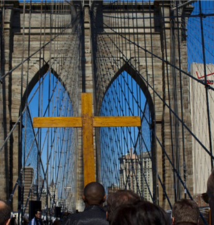 The Way of the Cross on the Brooklyn Bridge.