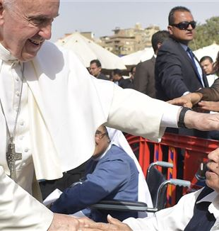 Pope Francis visits Egypt.