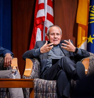 Fr. Julián Carrón at the University of Notre Dame. Courtesy of Center for Ethics and Culture