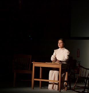 Mariagustina Fabara Martinez plays the adult Hellen Keller. Photo by Mary Sarah Ivers