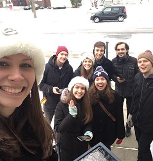 The St. Paul, MN, community shared Christmas caroling.