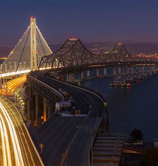 Eastern span of the San Francisco–Oakland Bay Bridge. Photo by Frank Schulenburg / CC