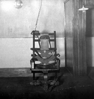 The first electric chair. Via Wikimedia Commons