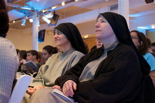 Franciscan Sisters of the Renewal in the audience. Photo by Maria Ramos