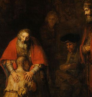 'The Return of the Prodigal Son' by Rembrandt via Wikimedia Commons