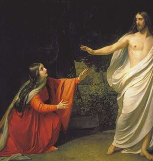 Jesus and Mary Magdalen by Alexander Andreyevich Ivanov