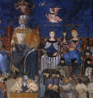 The Good Government allegory by Ambrogio Lorenzetti