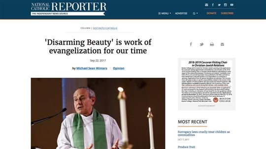 Disarming Beauty featured on The National Catholic Reporter.