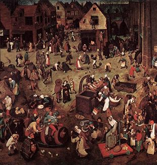 The Fight Between Carnival and Lent by Pieter Breugel. Photo via Wikimedia Commons