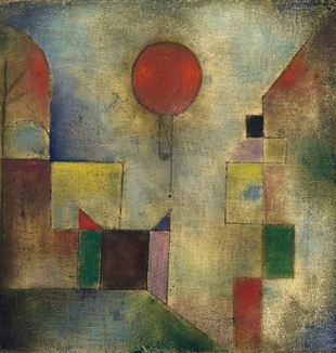 Red Balloon by Paul Klee. Public Domain via Wikimedia Commons