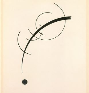 'Free Curve to the Point' by Wassily Kandinsky via Wikimedia Commons
