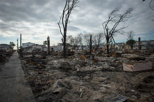 Damage after Hurricane Sandy. Photo by Ryan Courtade