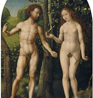 'Adam and Eve' by Artist Jan Gossaert via Wikimedia Commons