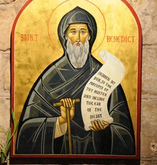 Icon of Saint Benedict. Creative Commons CC0
