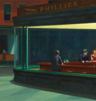 'Nighthawks' by Edward Hopper via Wikimedia Commons