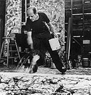 Jackson Pollock at Work. Wikimedia Commons