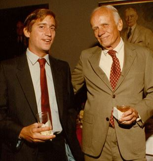 Walter Isaacson [R] & Walker Percy [L]. Flickr