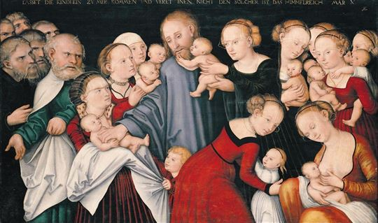 'Christ Blessing the Children' by Artist Lucas Cranach via Wikimedia Commons
