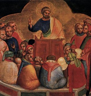 'The Homily of Saint Peter' by Artist Lorenzo Veneziano via Wikimedia Commons
