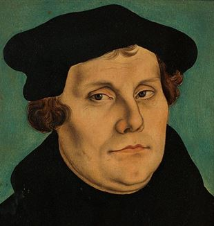 'Martin Luther' by Lucas Cranach the Elder. Via Wikimedia Commons