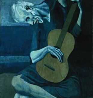 'The Old Guitarist' by Artist Pablo Picasso via Flickr