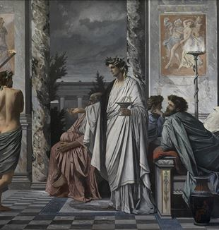 Plato's Symposium by Artist Anselm Feuerbach via Wikimedia Commons