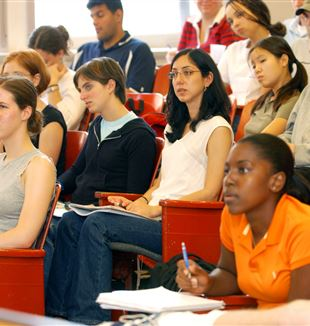 University Students in Class. Wikimedia Commons
