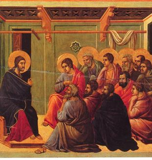 'Christ Taking Leave of the Apostles' by Artist Duccio di Buoninsegna via Wikimedia Commons