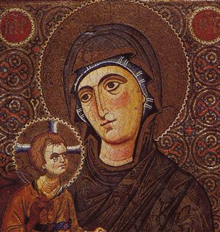 Mary and Child, Sinai. Via Wikimedia Commons