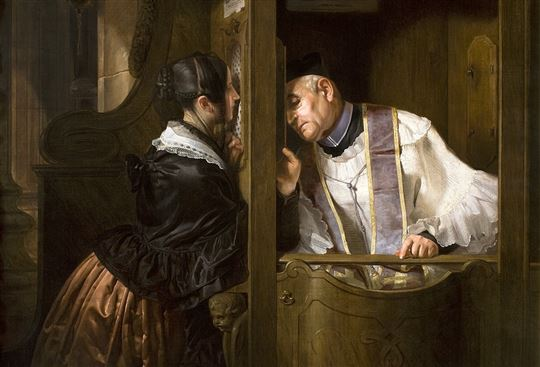 The Confession by Giuseppe Molteni