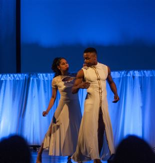 Dancers perform as Adam and Eve. Photo by Brenda Abdelmesih