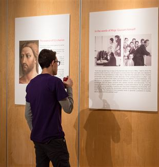 New York Encounter exhibit on Msgr. Giussani and Communion and Liberation. Photo by Maria Ramos