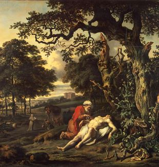 'Parable of the Good Samaritan' by Artist Jan Wijnants via Wikimedia Commons