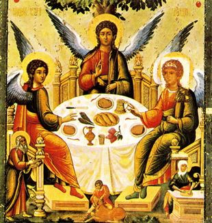 Russian Icon of the Trinity. Wikimedia Commons