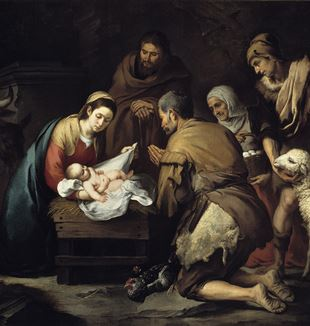 'The Adoration of the Shepherds' by Artist Bartolomé Esteban Murillo via Wikimedia Commons