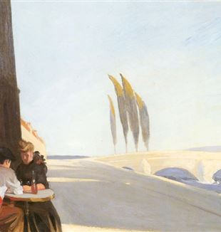 Le Bistro or The Wine Shop by Edward Hopper