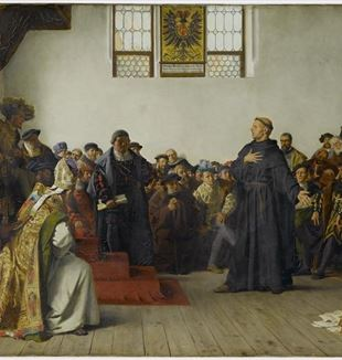 Martin Luther at the Diet of Worms. Wikimedia Commons
