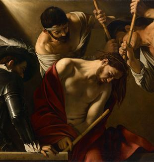 'The Crowning with Thorns' by Caravaggio via Wikimedia Commons