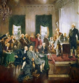 Signing of the U.S. Constitution. Creative Commons CC0