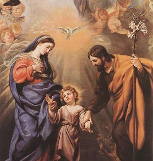 'Holy Family' by Artist Claudio Coello via Wikimedia Commons