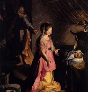 Nativity by Federico Barocci. Via Wikimedia Commons