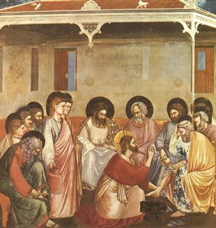 Washing of Feet by Giotto di Bondone