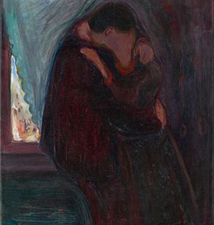 The Kiss by Edvard Munch