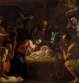 The Adoration of the Shepherds by Mattia Preti