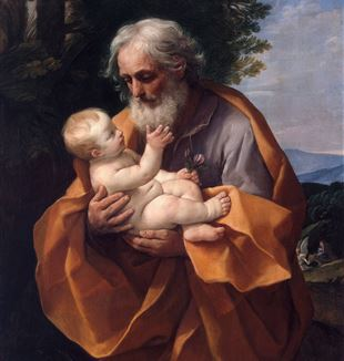 'Saint Joseph with the Infant Jesus' by Guido Reni via Wikimedia Commons