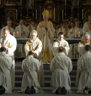 Priests receiving ordination. Wikimedia Commons
