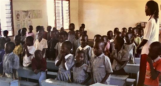 A class at the Luigi Giussani primary school.